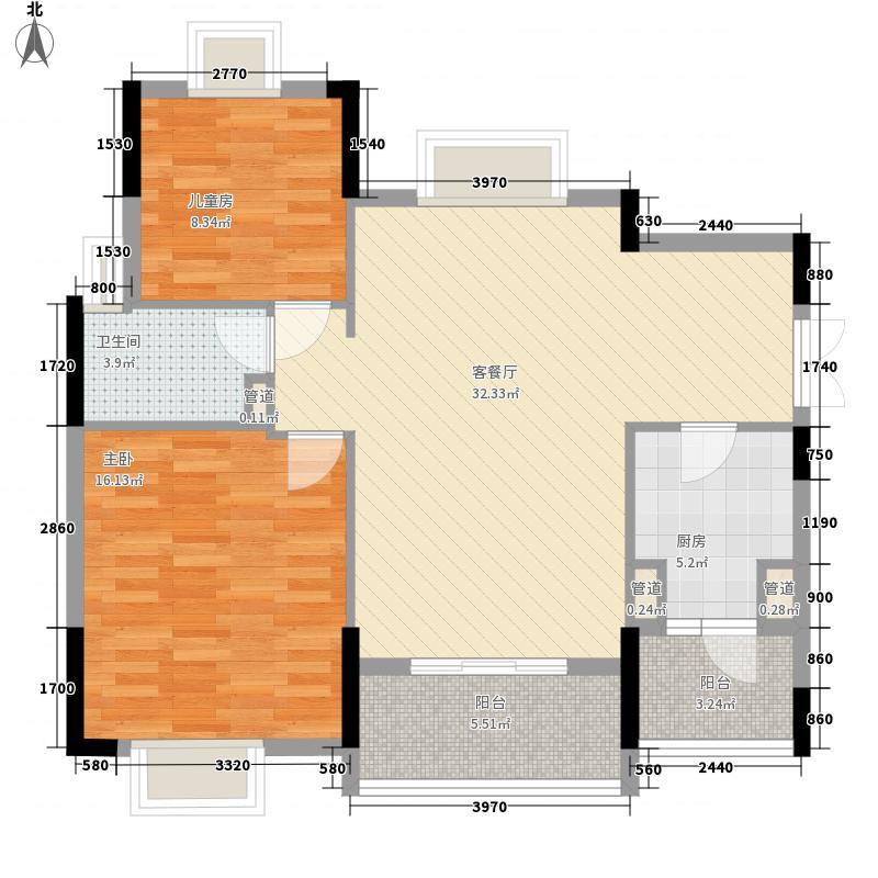 联华花园城三期96.32㎡联华花园城三期2室户型2室
