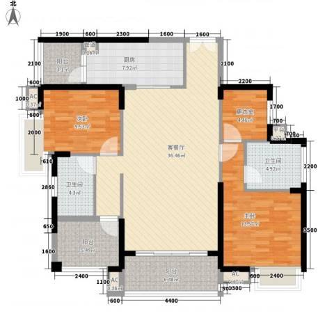 星河・丹堤2室1厅2卫1厨140.00㎡户型图