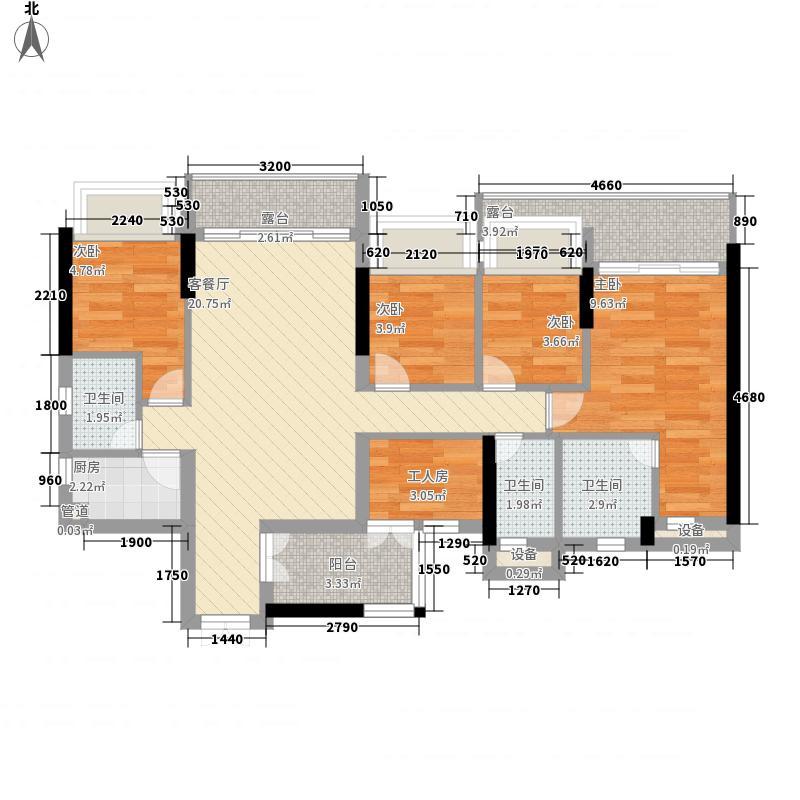 佳兆业可园六期98.00㎡佳兆业可园六期5室户型5室