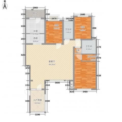 国大全城3室1厅2卫0厨144.00㎡户型图
