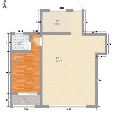 荷花园怡菏园1室1厅1卫0厨85.00㎡户型图