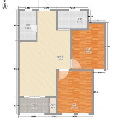 坤泰御景湾2室1厅0卫2厨130.12㎡户型图
