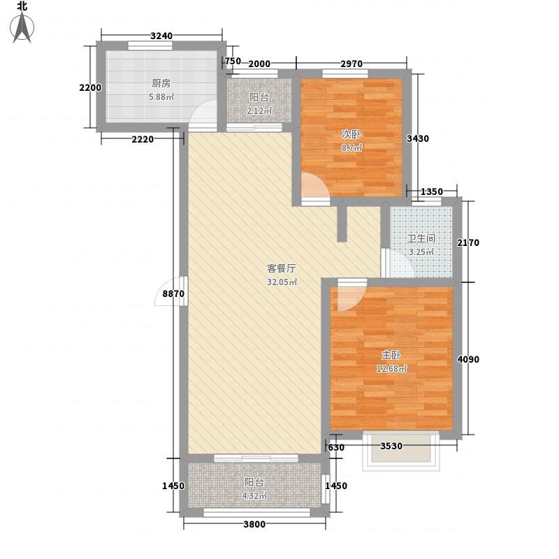 金色威尼斯F2F4户型2室2厅1卫