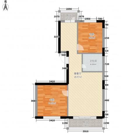 金博花园2室1厅1卫0厨79.00㎡户型图