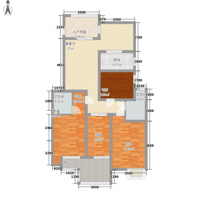 艺苑景观豪庭12.00㎡5#楼B5户型4室2厅2卫