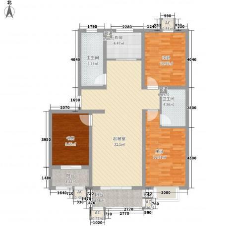 店上村怡景苑3室0厅2卫1厨131.00㎡户型图