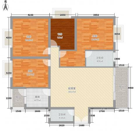 御之苑4室0厅2卫1厨153.00㎡户型图