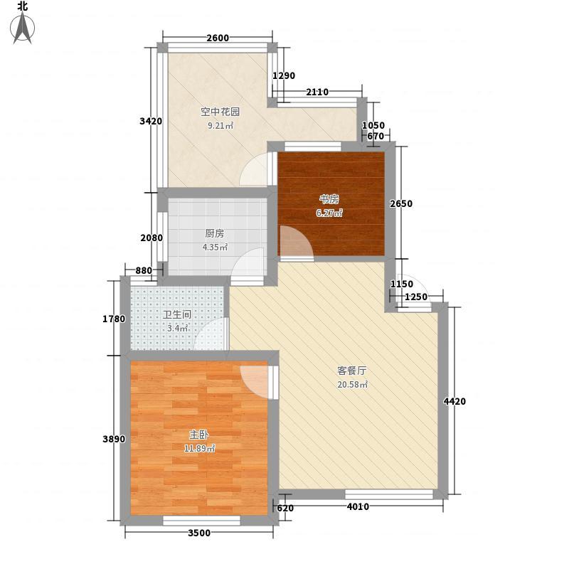 万城64.79㎡万城户型图D2户型(售完)2室2厅1卫1厨户型2室2厅1卫1厨