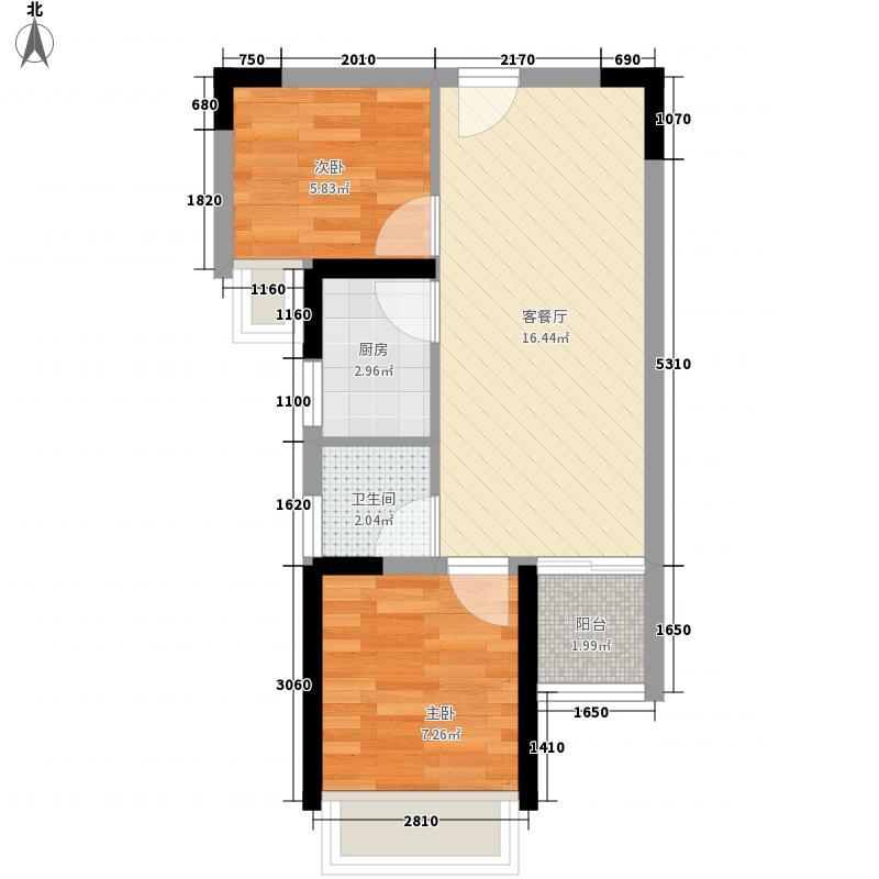 新银座华庭户型图户型图 2室2厅1卫1厨