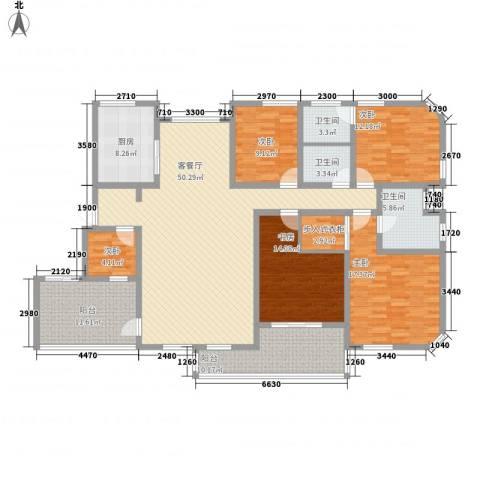 八一路省公安厅单位房5室1厅3卫1厨219.00㎡户型图