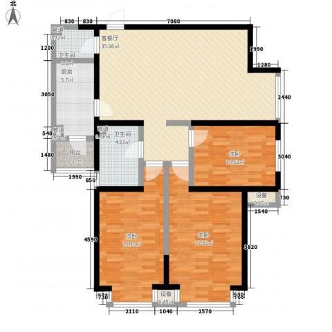 艾博都泊林3室1厅2卫1厨94.51㎡户型图
