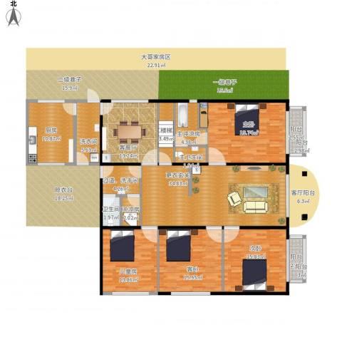 地王广场三期香颂里4室1厅1卫1厨212.00㎡户型图