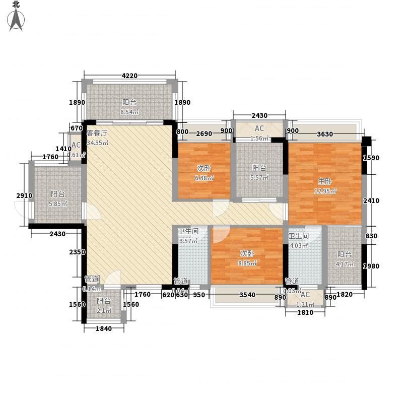 红日江山114.64㎡01#楼户型