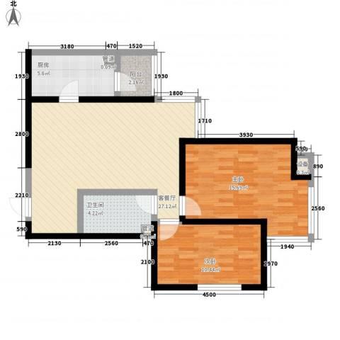 艾博都泊林2室1厅1卫1厨65.68㎡户型图
