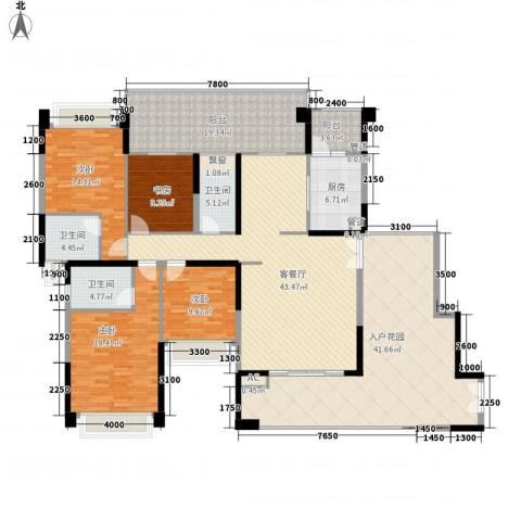 星河・丹堤4室1厅3卫1厨253.00㎡户型图