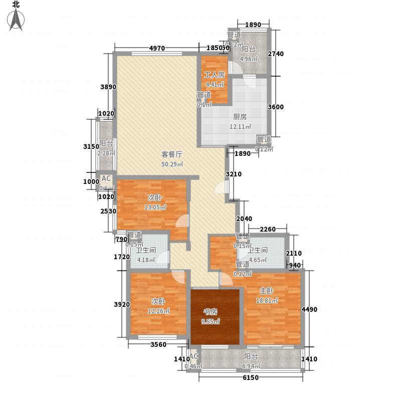 兆丰嘉园二期203.99㎡兆丰嘉园二期户型图203平米户型图(主力户型)4室2厅3卫户型4室2厅3卫