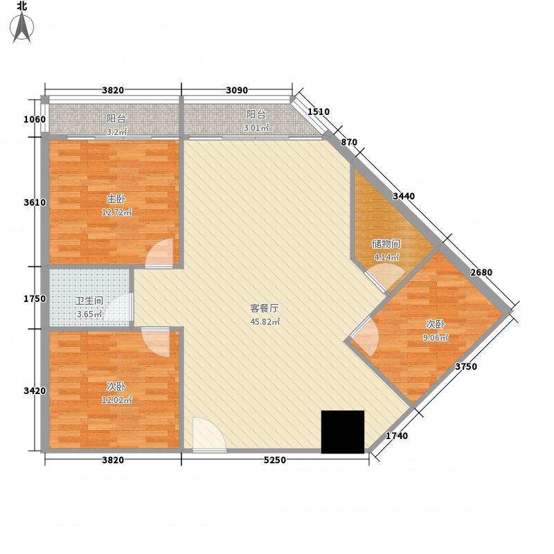 燕华苑户型3室2厅1卫1厨
