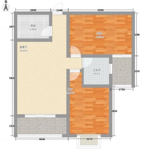 瑞丰新欣城2室1厅1卫1厨93.00㎡户型图