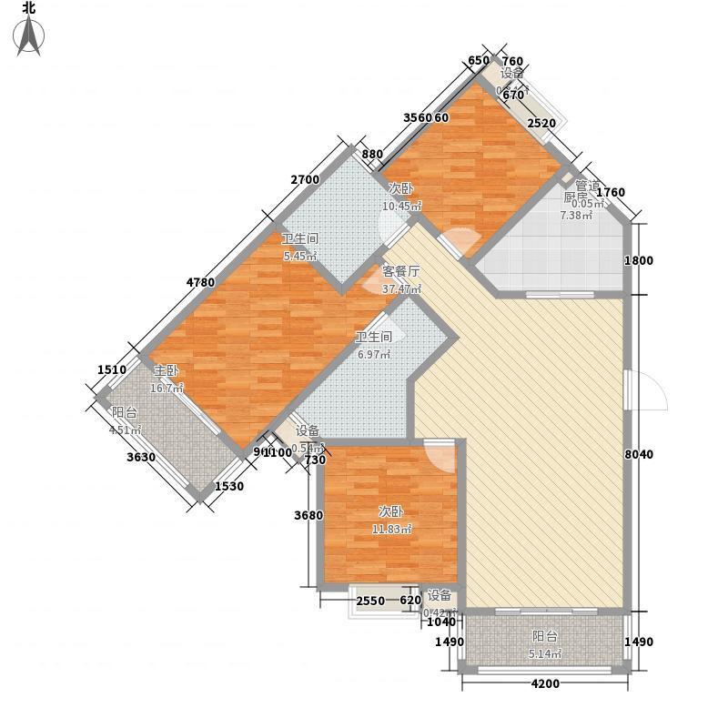 熔盛社区127.00㎡泰晤士印象7、8#楼D5户型3室2厅2卫1厨