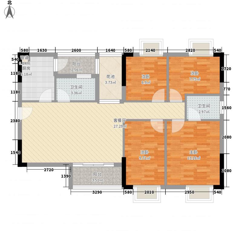 金威名苑123.00㎡金威名苑户型图1座01单元4房2厅2卫1厨4室2厅2卫1厨户型4室2厅2卫1厨