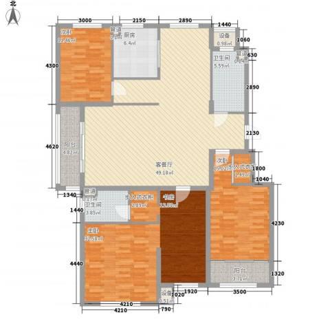 芙蓉花园3室1厅2卫1厨192.00㎡户型图