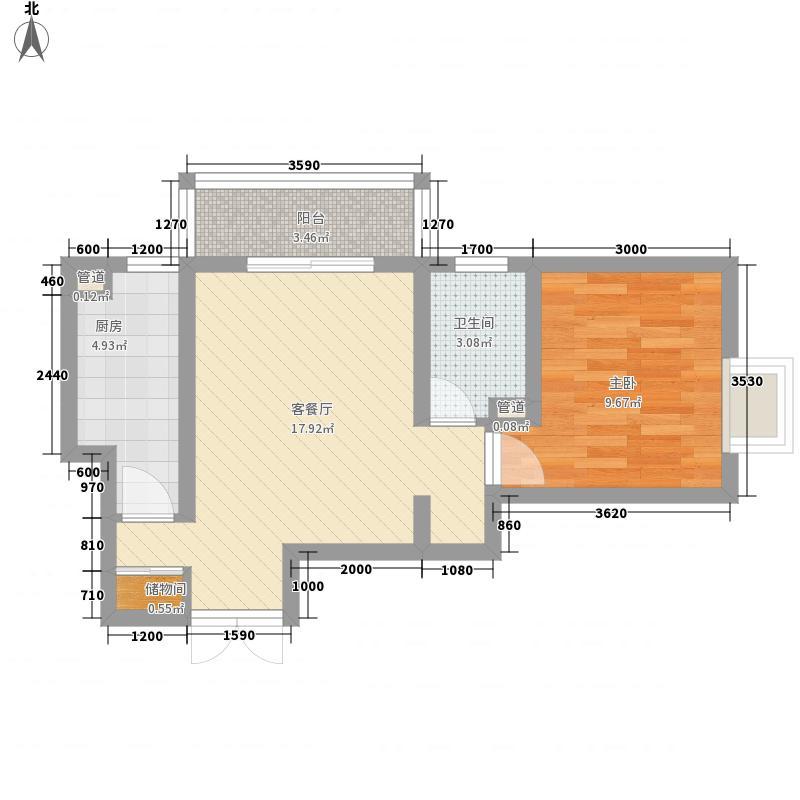 金宝花园82.00㎡金宝花园82.00㎡3室户型3室