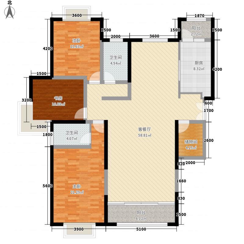 泓庆家园三室两厅两卫1户型3室2厅2卫1厨