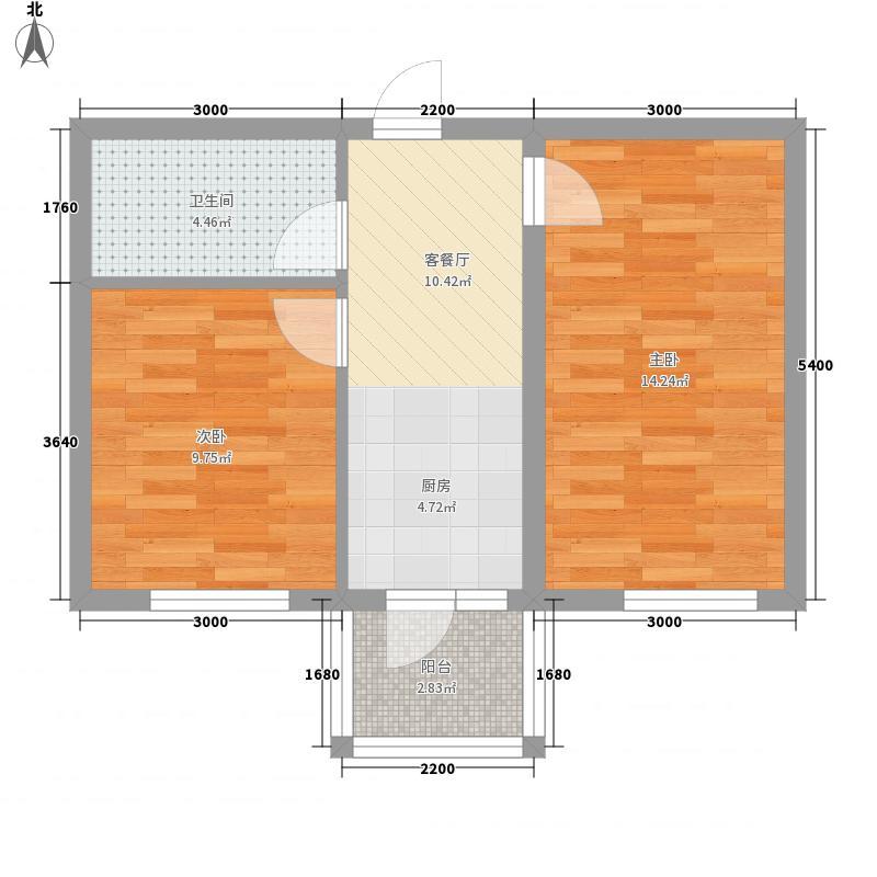 北岸启程多层户型2室1厅1卫1厨