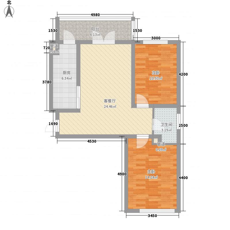 北岸启程61.27㎡北岸启程户型图高层户型2室1厅1卫1厨户型2室1厅1卫1厨