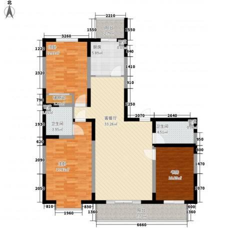 天赐园(和平区)3室1厅2卫1厨149.00㎡户型图