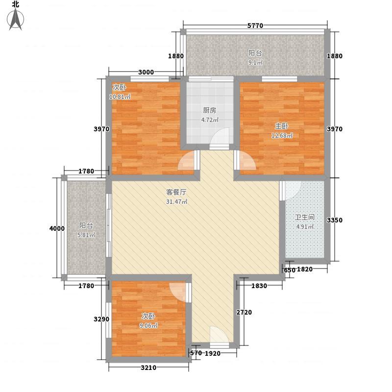 依景湾128.15㎡依景湾户型图A户型3室2厅1卫1厨户型3室2厅1卫1厨