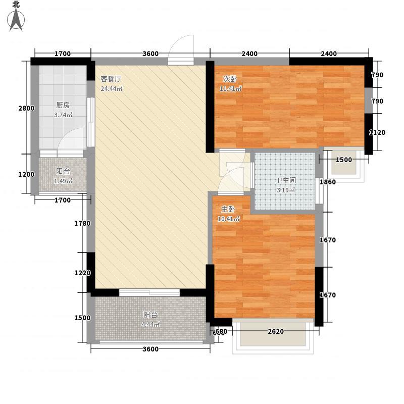 新里城78.40㎡7栋03/04户型2室2厅1卫1厨