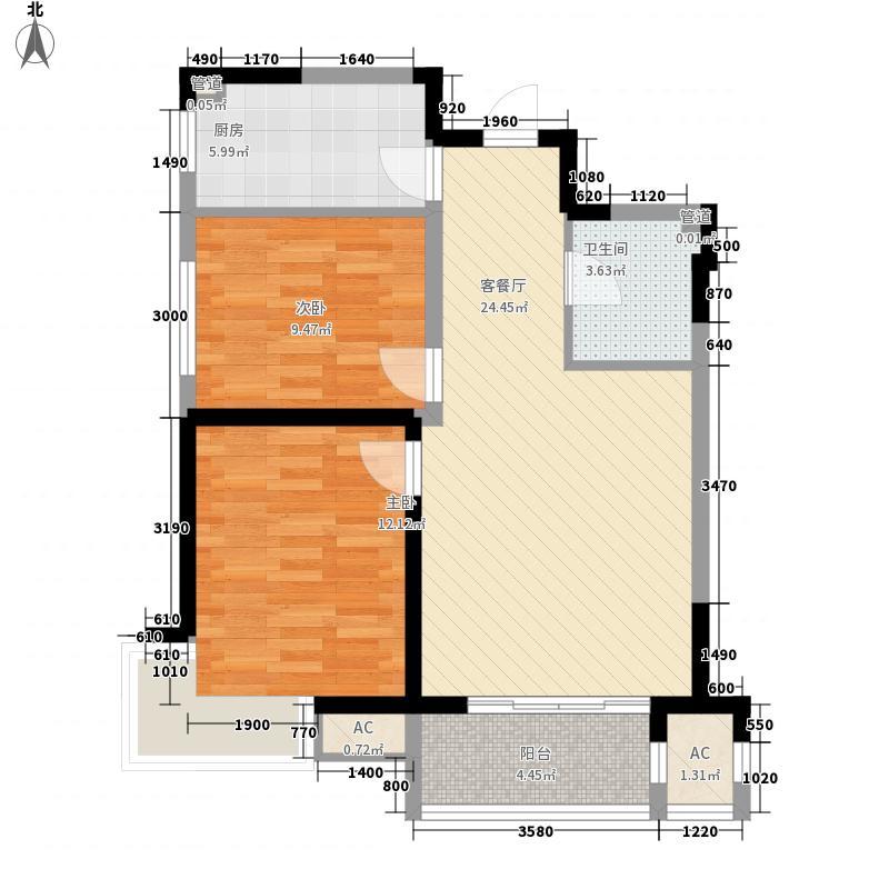 良城美景81.20㎡良城美景户型图B户型2室1厅1卫户型2室1厅1卫