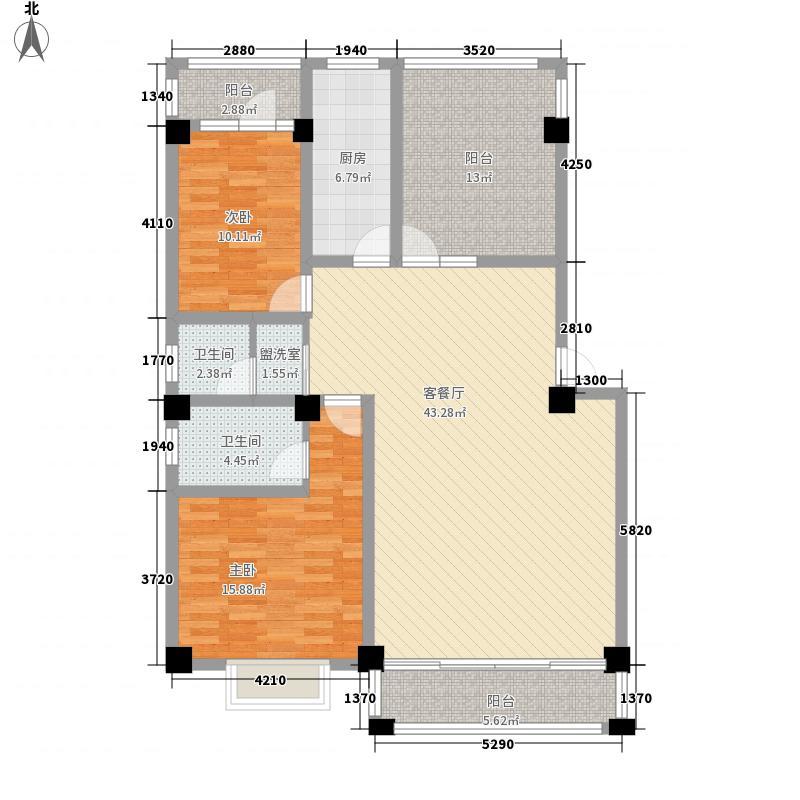 凯地怡苑153.00㎡A—2户型3室2厅2卫1厨