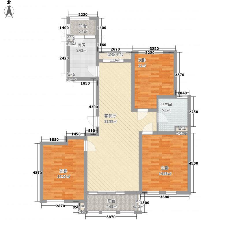 圣骊河滨苑三期133.00㎡圣骊河滨苑三期户型图标准层133平米户型图3室2厅1卫1厨户型3室2厅1卫1厨