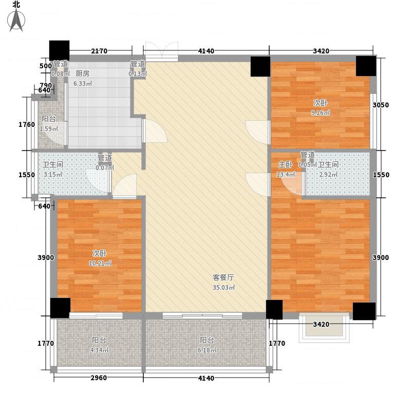 君临天华君临天华户型图3室2厅2卫1厨户型10室