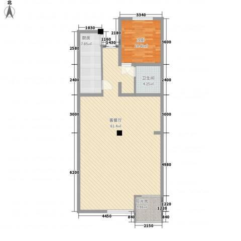 康宁护理院1室1厅1卫1厨121.00㎡户型图