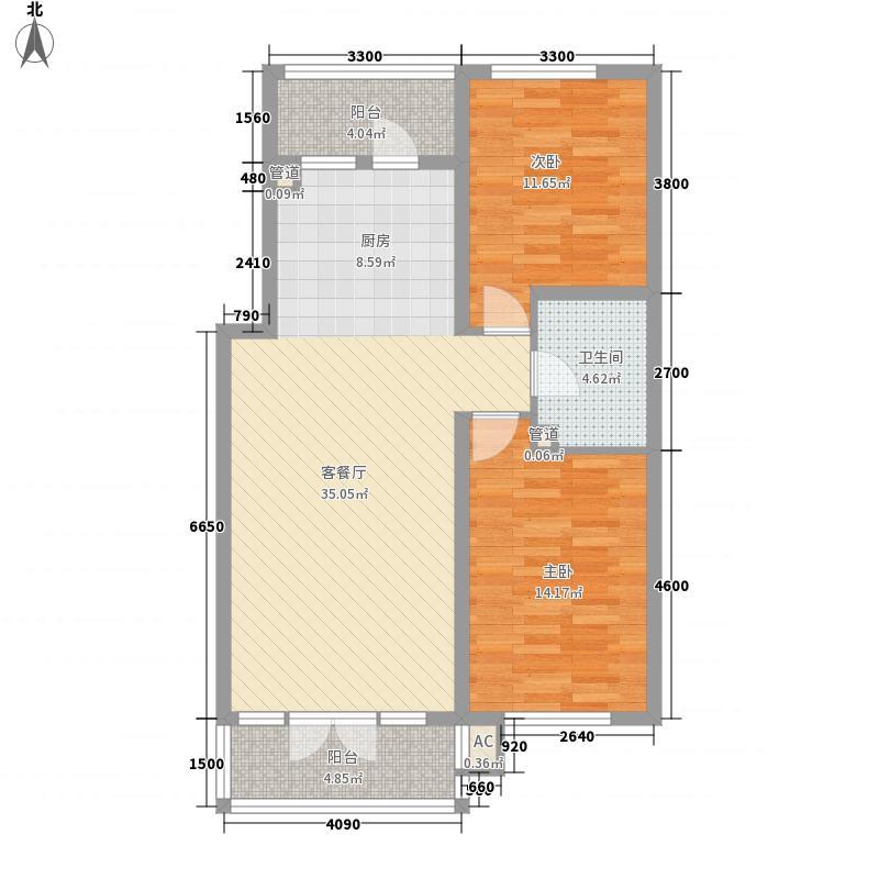 北岸启程67.98㎡北岸启程户型图高层户型2室1厅1卫1厨户型2室1厅1卫1厨