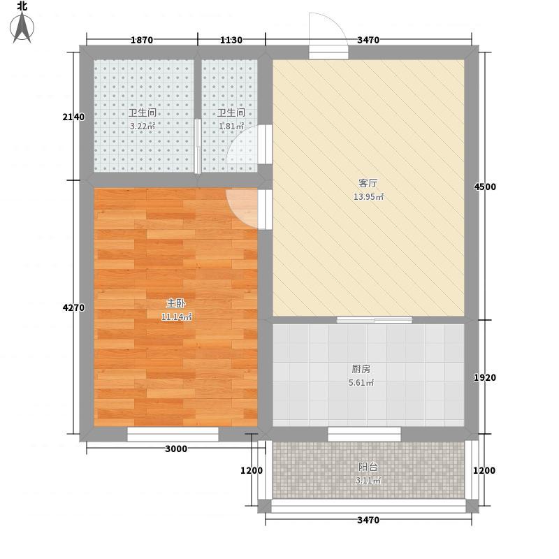 万和顺景58.40㎡万和顺景户型图1室1厅1卫户型10室
