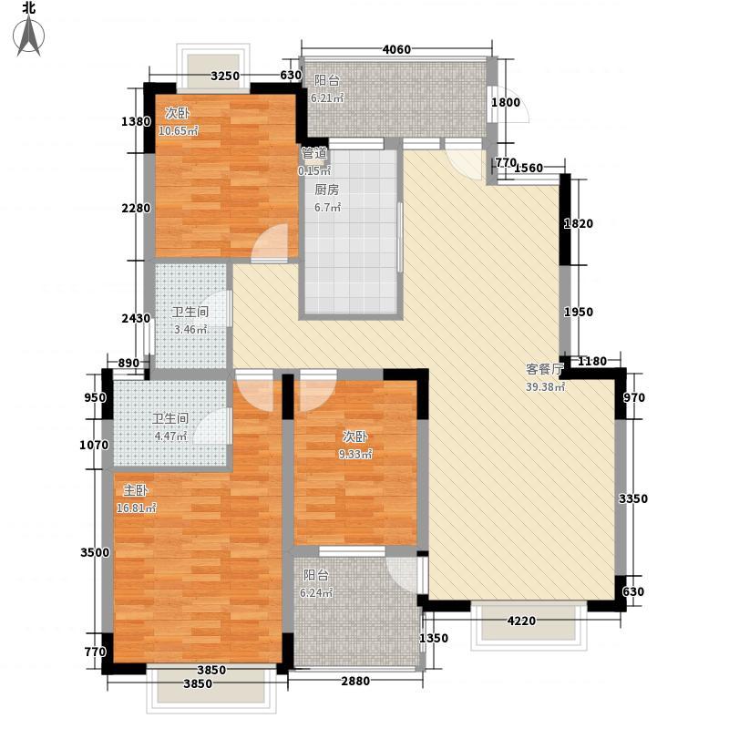 同和慧源142.54㎡蓬莱阁B02户型3室2厅2卫1厨
