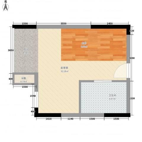 创富商务公寓1卫0厨50.00㎡户型图