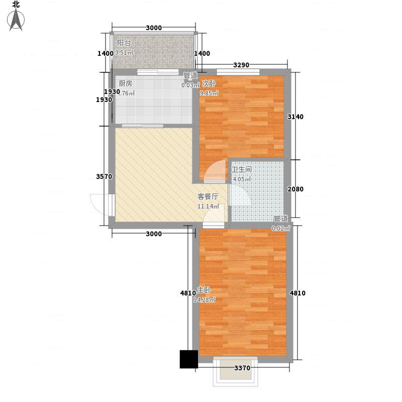 东川时尚雅居64.79㎡东川时尚雅居户型图2室1厅1卫户型10室
