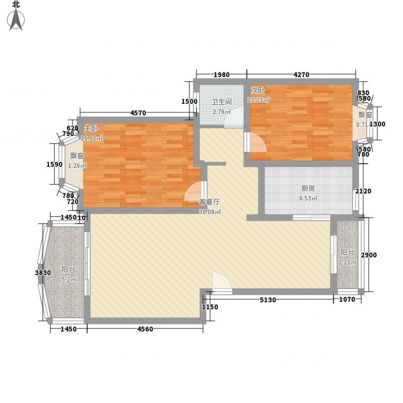 同方锦城120.00㎡上海同方锦城二期户型10室