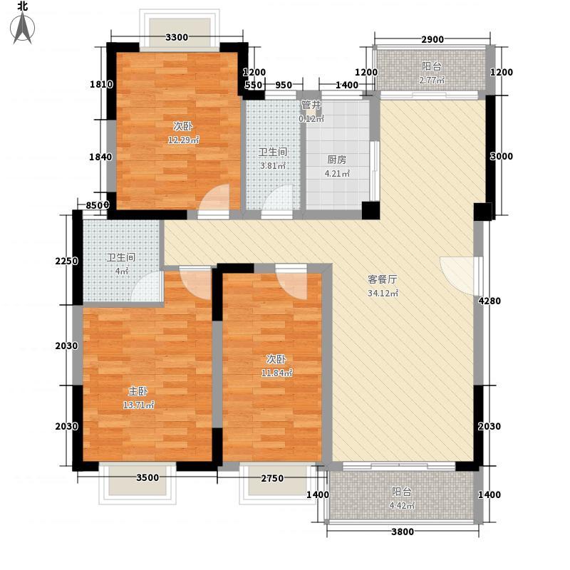 元美广场61.00㎡户型1室