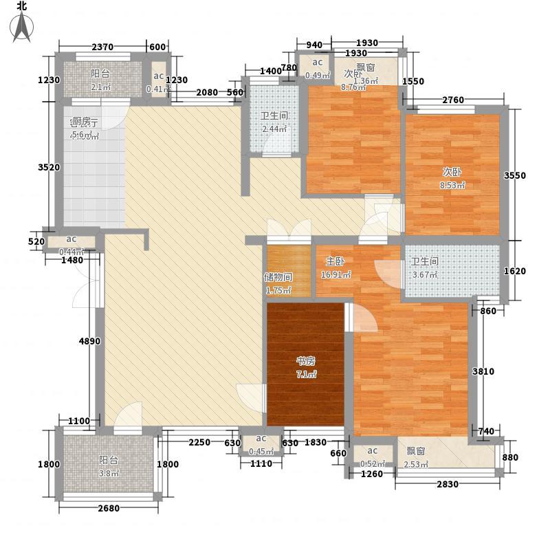 浑河湾147.76㎡浑河湾户型图D44室2厅2卫户型4室2厅2卫