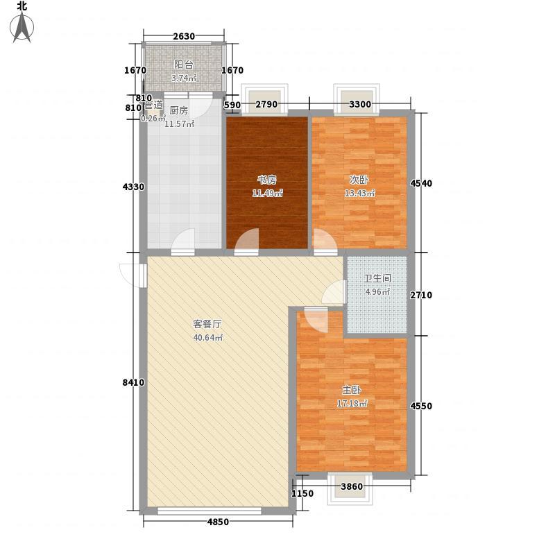 世纪花园94.72㎡世纪花园户型图3室1厅1卫1厨户型10室