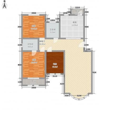 泰和尚都3室1厅2卫1厨162.00㎡户型图