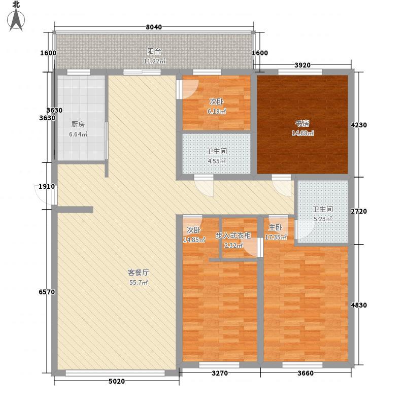 世纪花园124.91㎡哈尔滨世纪花园户型10室