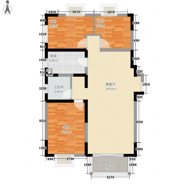 江南文枢苑11.50㎡L户型3室2厅1卫