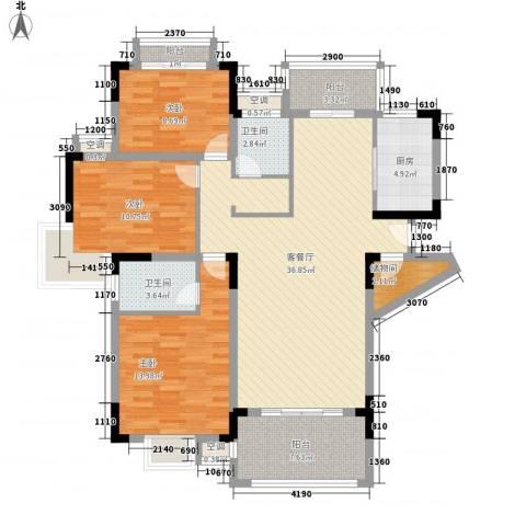 联发江岸汇景3室1厅2卫1厨141.00㎡户型图
